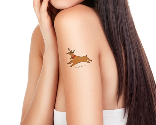 Temporary Tattoo Reindeer