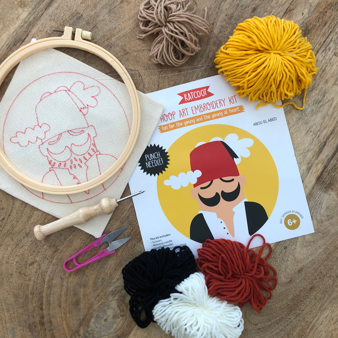 Punch needle embroidery hoop kit ~ Abou El Abed
