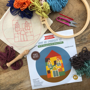 Punch needle embroidery hoop kit ~ Lebanese House