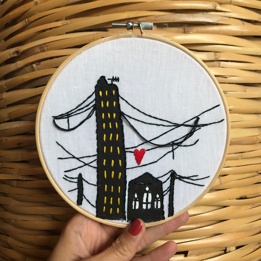 Embroidered Hoop Beirut Love (60,000LBP)