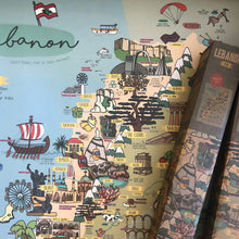 Load image into Gallery viewer, Printed Lebanon Map Poster