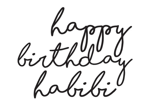 Paper Placemats Happy Birthday Habibi