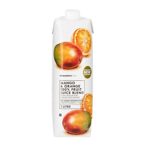 100% Mango & Orange Fruit Juice Blend 1L Fresh Food