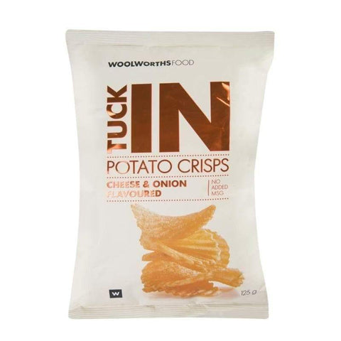Cheese & Onion Flavoured Potato Crisps 125g