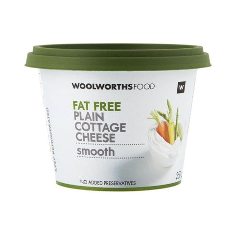 Fat Free Smooth Plain Cottage Cheese 250g