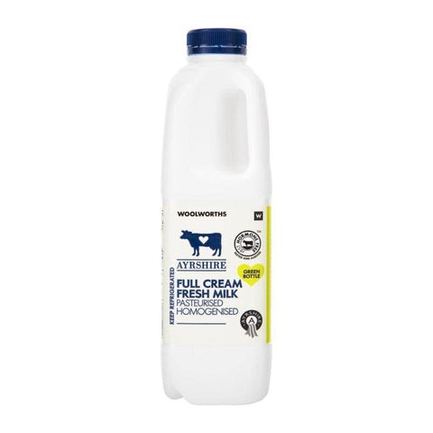 Fresh Full Cream Ayrshire Milk 1L