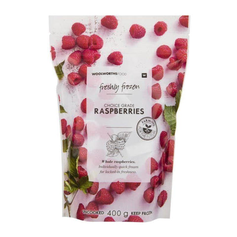 Freshly Frozen Raspberries 400g