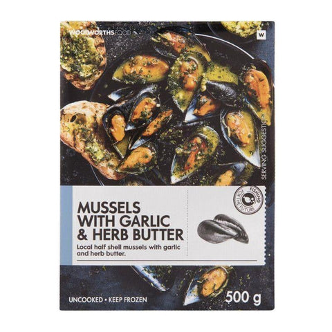 Frozen Mussels with Garlic & Herb Butter 500g