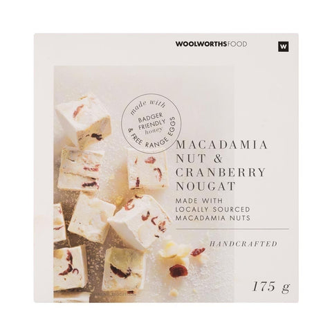 Handcrafted Macadamia & Cranberry Nougat 175g