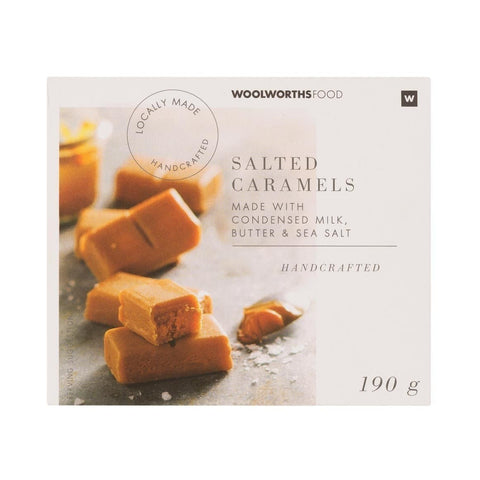 Handcrafted Salted Caramels 190g