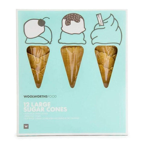 Large Sugar Cones 12Pk