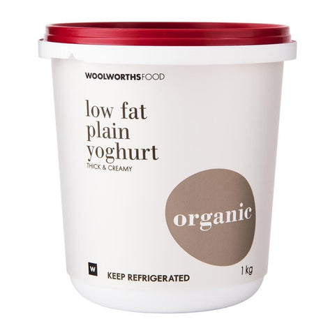 Low Fat Plain Organic Yoghurt 1Kg