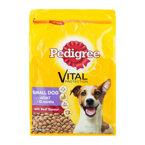 Pedigree with Beef Flavour Adult Dog Food 4kg