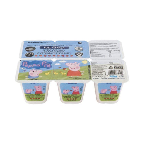 Peppa Pig™ Full Cream Ayrshire Strawberry Yoghurt 6x100g