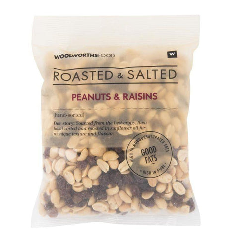 Roasted & Salted Peanuts & Raisins 450g