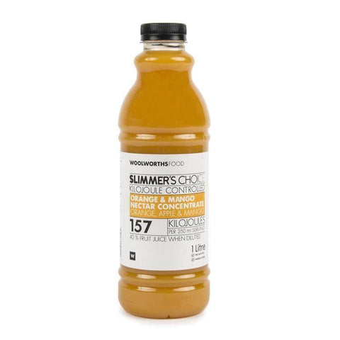 Slimmer's Choice Orange & Mango Nectar Concentrate 1L