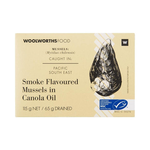 Smoke Flavoured Mussels in Canola Oil 115g