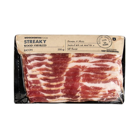 Streaky Wood Smoked Bacon 250g