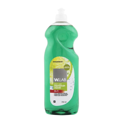 W.Lab 3-in-1 Zesty Lime Dishwash Liquid 750ml