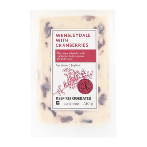 Wensleydale Cheese with Cranberries 150g