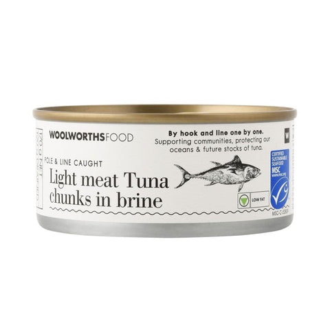 Light Meat Tuna Chunks In Brine 170G Food Cupboard