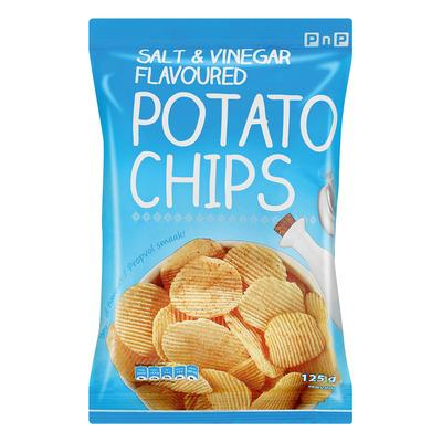 PnP Salt & Vinegar Chips 125g