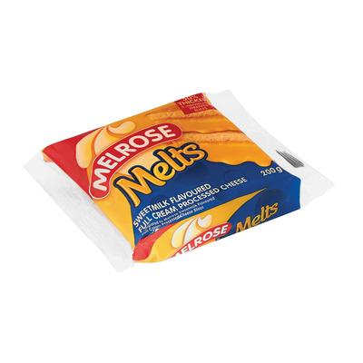 Melrose Melts Processed Cheese Slices Sweetmilk 200gr