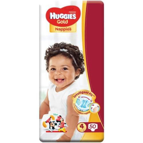 Huggies Gold Size 4 Value Pack 50 Nappies