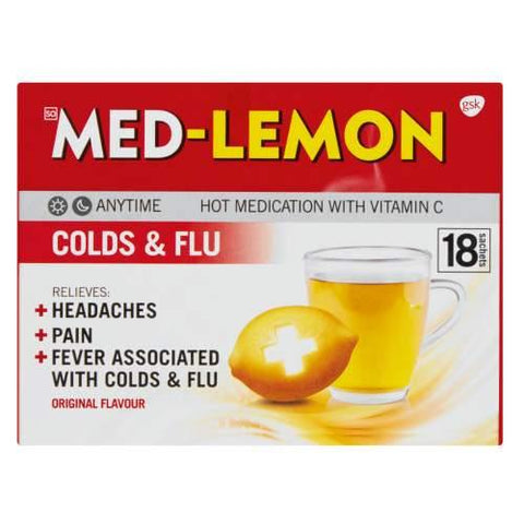 Med-Lemon Hot Medication Original 18 Sachets
