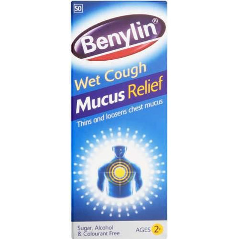 Benylin Wet Cough Mucus Relief Age 2+ 100ml