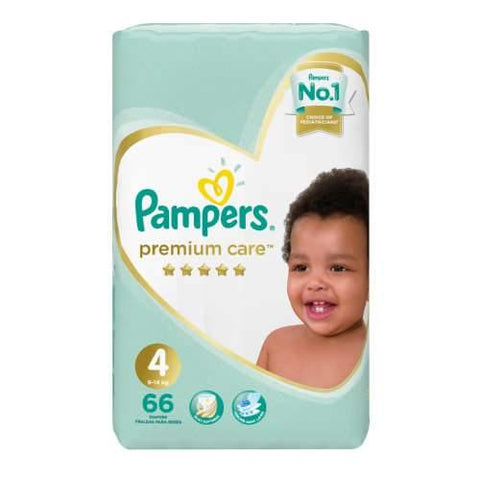 Pampers Premium Care Size 4 Jumbo Pack 66 Nappies