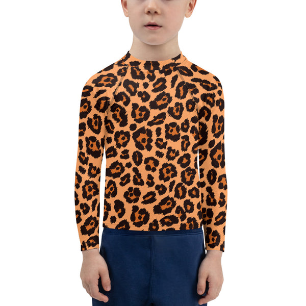 Leopard Kids Rash Guard