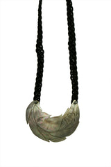 Hawaiian Carved Mother of Pearl Necklace - Black
