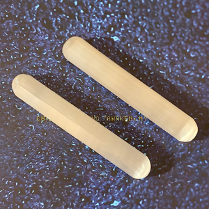 Polished Selenite Harmonizers (Pair)