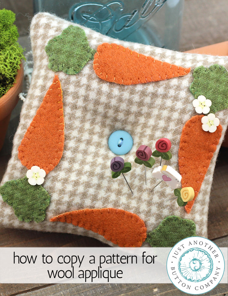 How to Copy a Pattern for Wool Appliqué