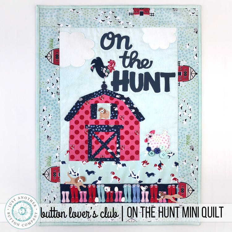 Button Lover's Club: On The Hunt Mini Quilt