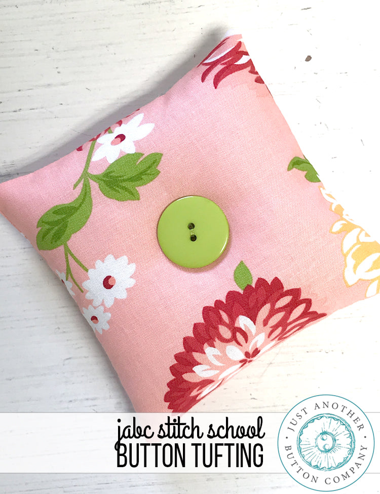 JABC Stitch School: Button Tufting