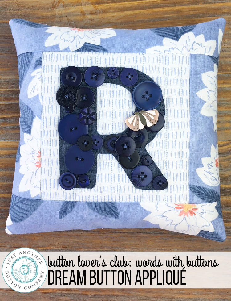 Button Lover's Club: Words With Buttons Dream Button Monogram