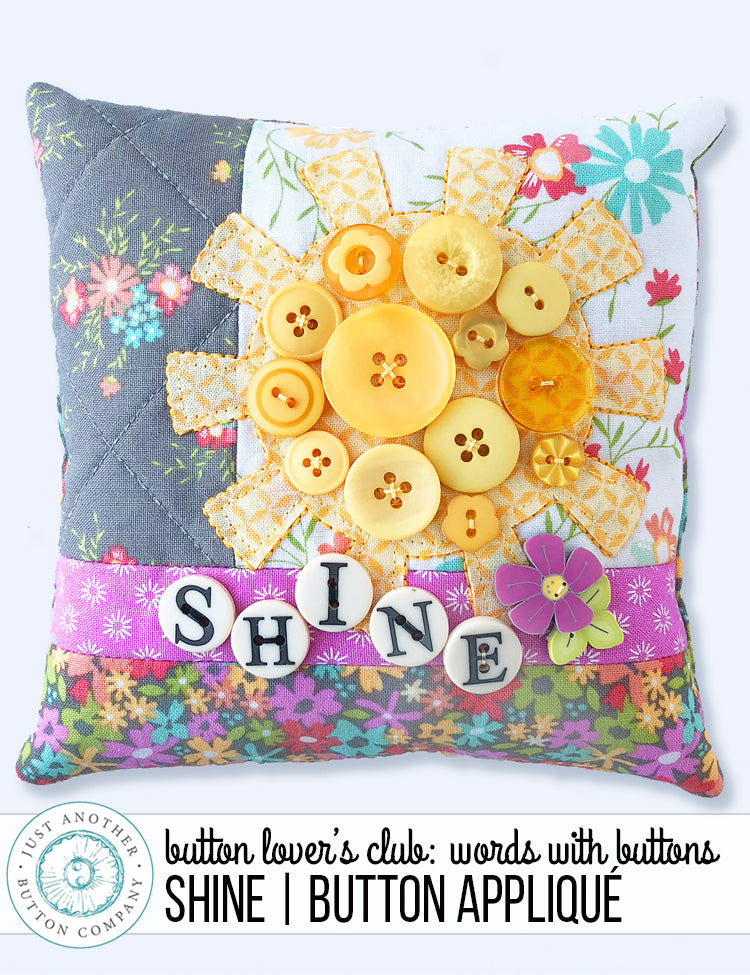 Button Lover's Club: Words With Buttons | Shine Button Appliqué