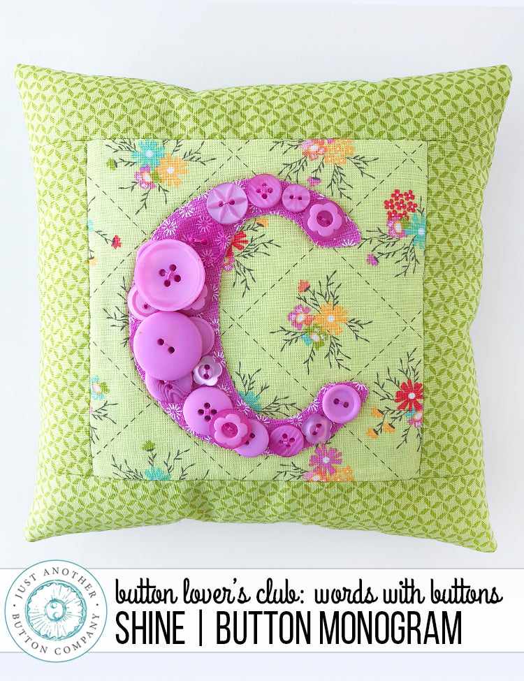 Button Lover's Club: Words With Buttons | Shine Button Monogram
