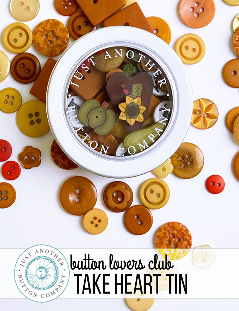 Button Lover's Club--Take Heart Tin, Family Gathering