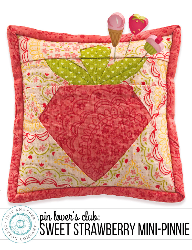February Pin Lover's Club: Sweet Strawberry Mini-Pinnie