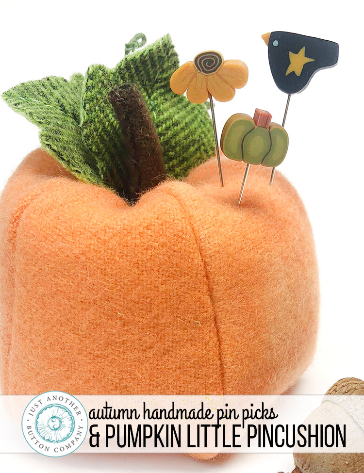 Autumn Handmade Pin Picks & Pumpkin Little Mini-Pinnie