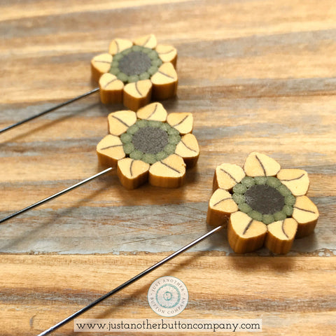 JABC 3 Sunflowers Pin Mini