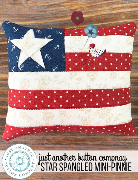 Star Spangled Mini-Pinnie | www.justanotherbuttoncompany.com