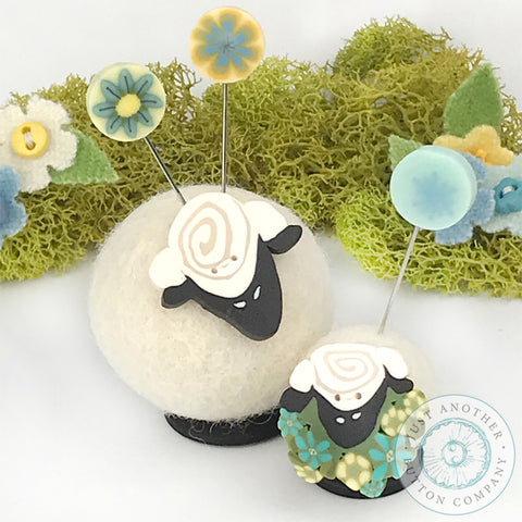 Sherry Sheep and Lucy Lamb Button Buddies | www.justanotherbuttoncompany.com