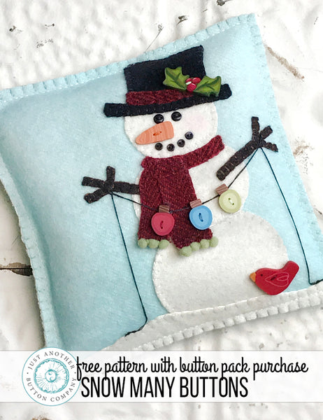 Snow Many Buttons- Free Pattern with Button Pack Purchase