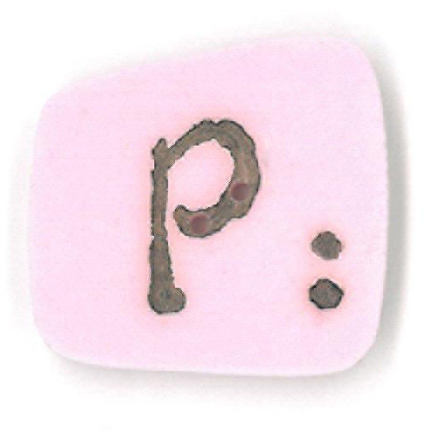 pink letter p