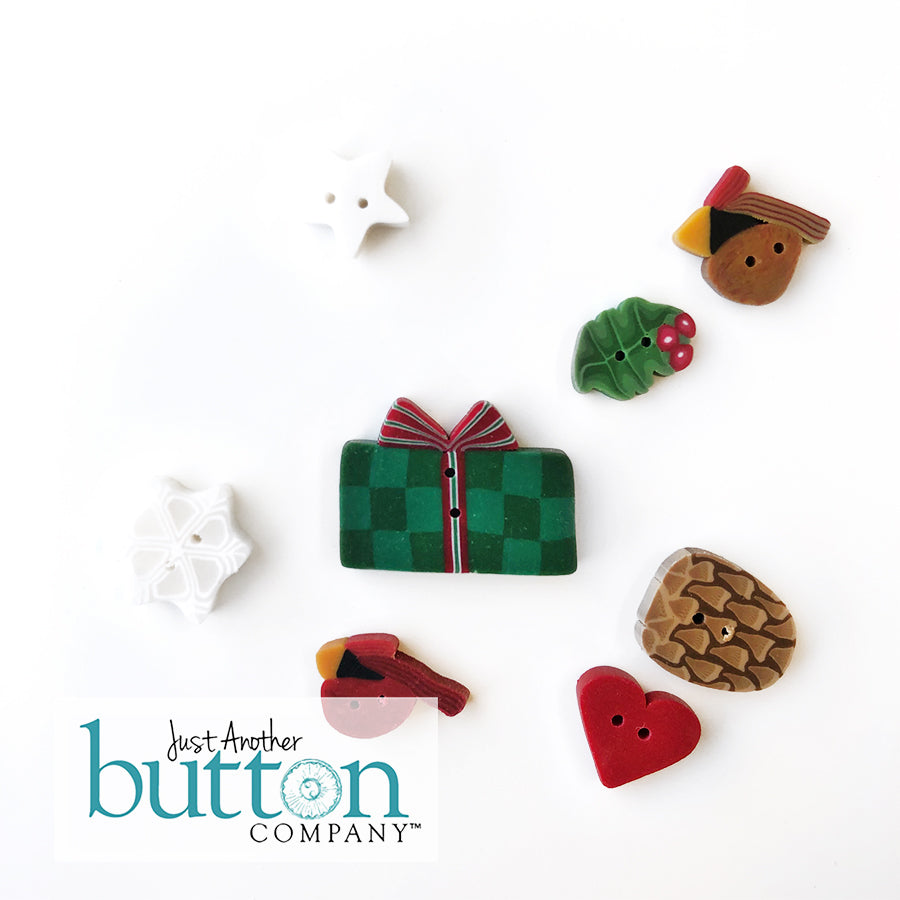 JABC - Christmasland Button Pack - handmade buttons