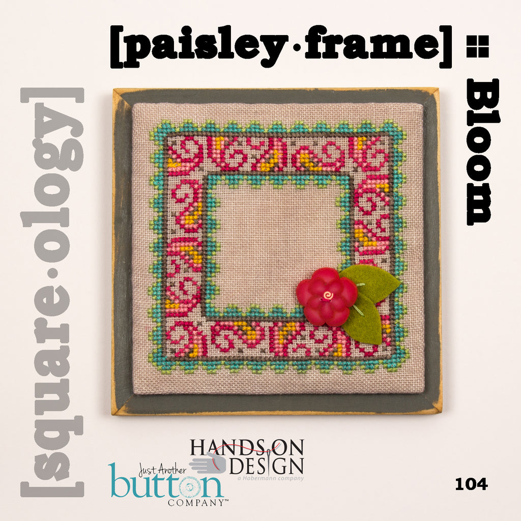 JABC - Cross Stitch - [square.ology] paisley.frame